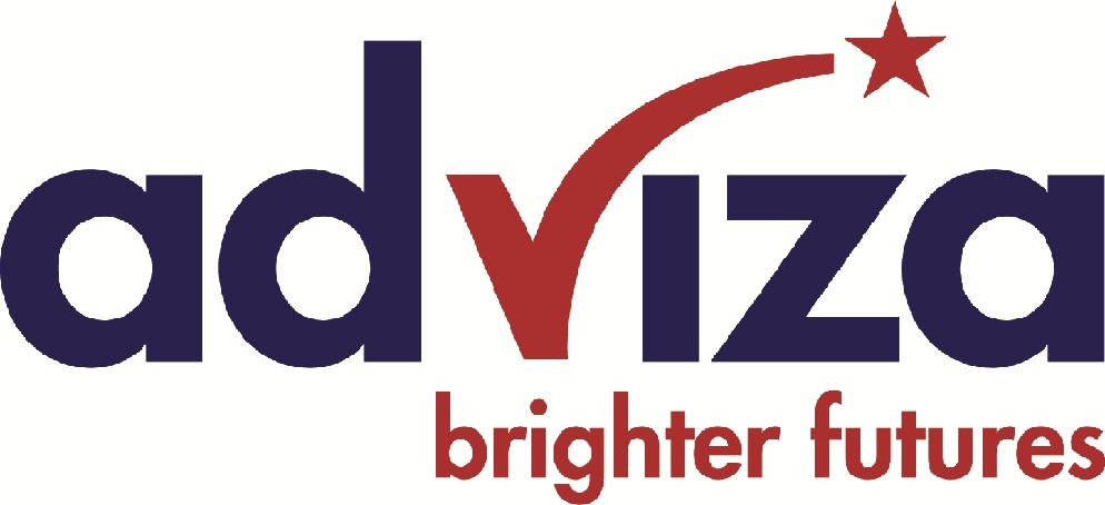 Adviza CMYK logo with tagline