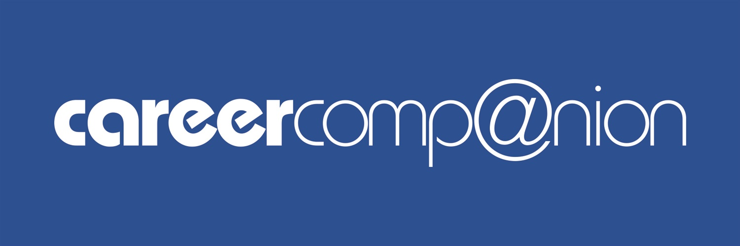 NEW Career Companion logo on blue